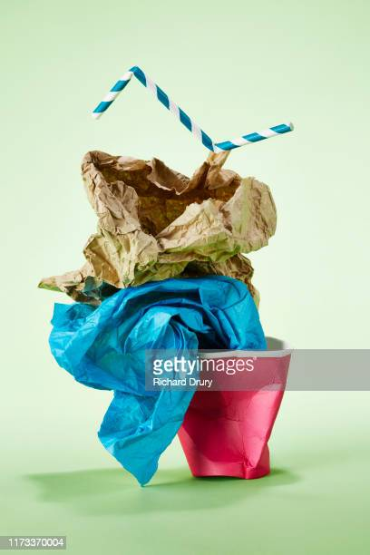Stack of paper rubbish for recycling