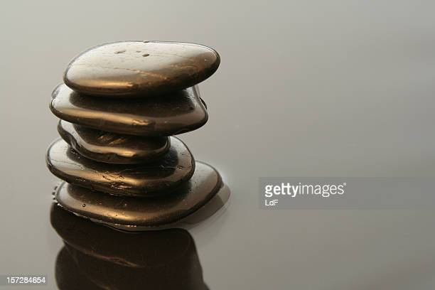 stack of pebbles - pebble stock photos and pictures