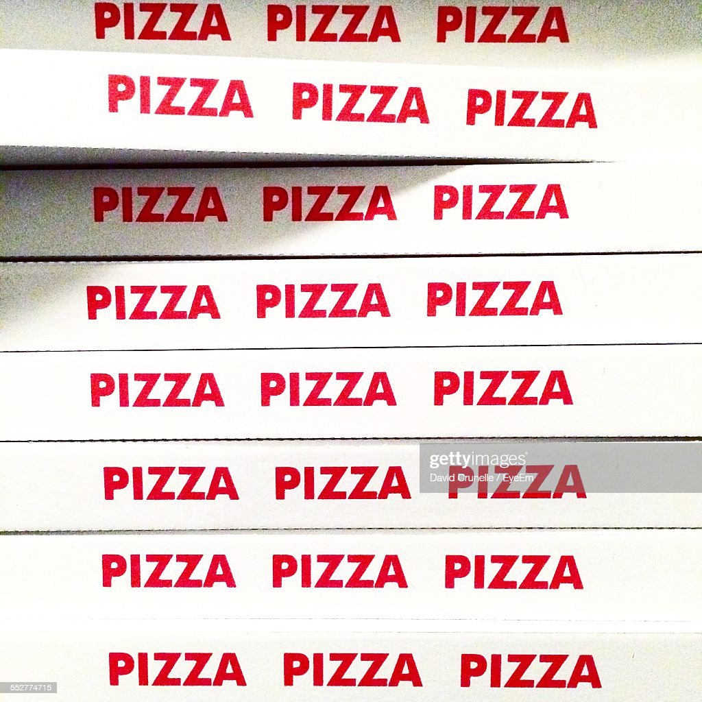 Stack Of Pizza Boxes : Stock Photo