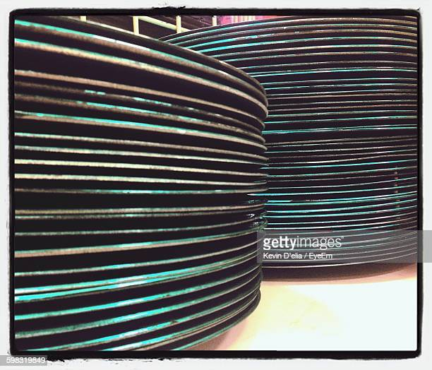 Stack Of Plates On Table
