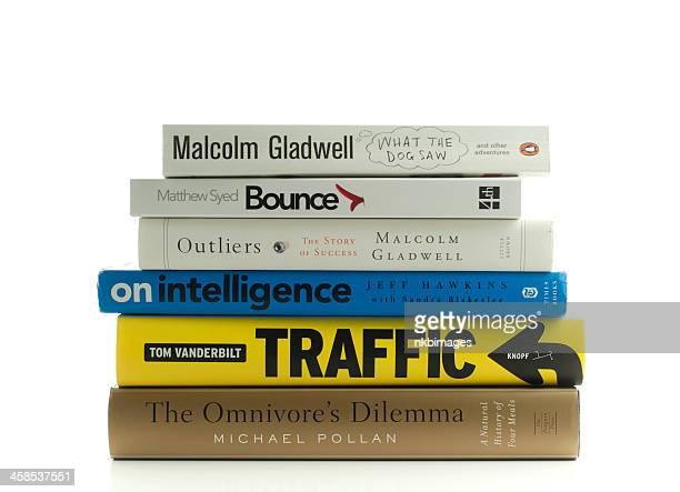 Stack of popular non fiction books