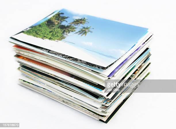 Stapel von Postkarten