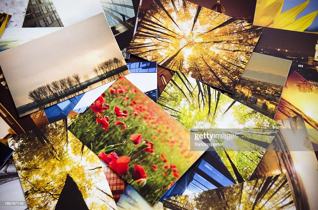 Pilha de imagens com estampa colorida : Foto de stock
