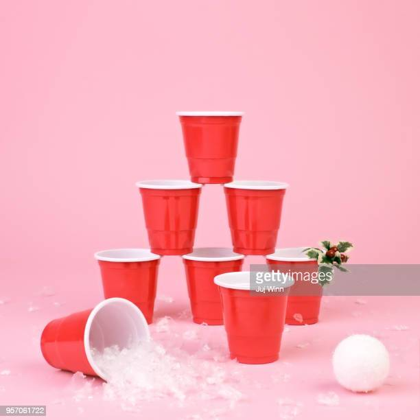 Stack of red cups