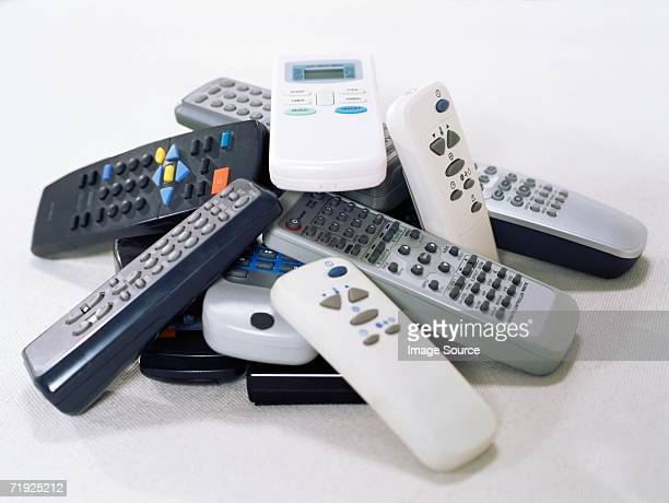 Stack of remote controls