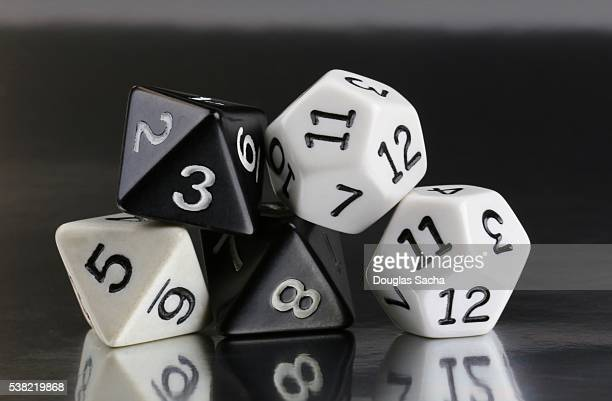 Stack of role playing game dice