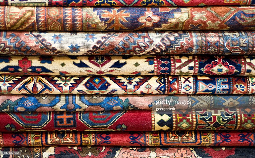 Stack of Rugs : Stock Photo
