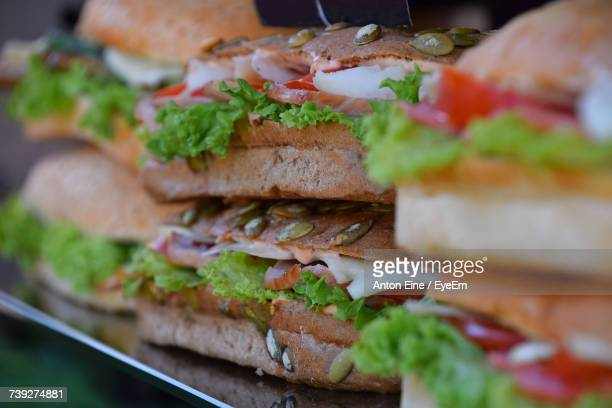Stack Of Sandwich For Sale At Shop