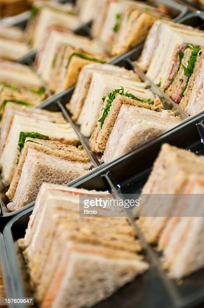 stack of sandwiches on a tray - tray stock pictures, royalty-free photos & images