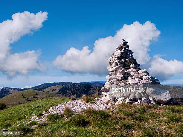 Stack Of Stones On Mountain, Col Visentin,Veneto,
