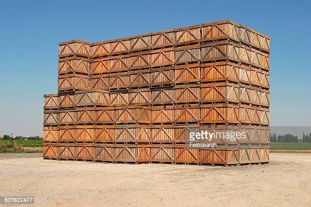 Stack of storage containers