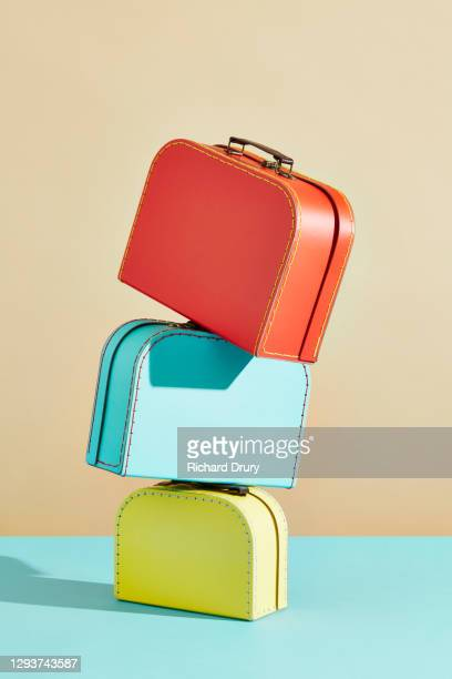 a stack of suitcases - richard drury stock pictures, royalty-free photos & images