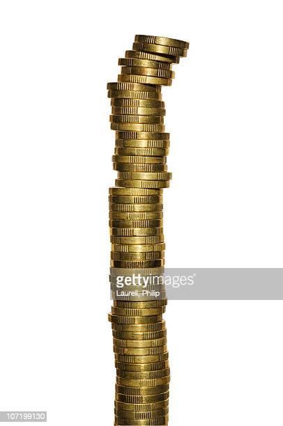 stack of swedish coins - スウェーデン通貨 ストックフォトと画像