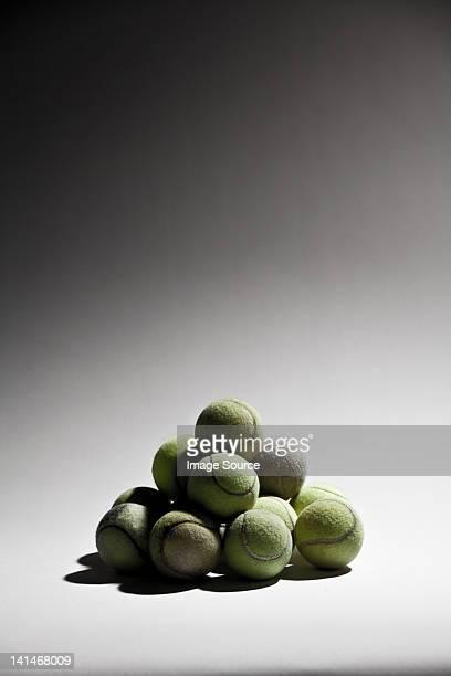 Stack of tennis balls