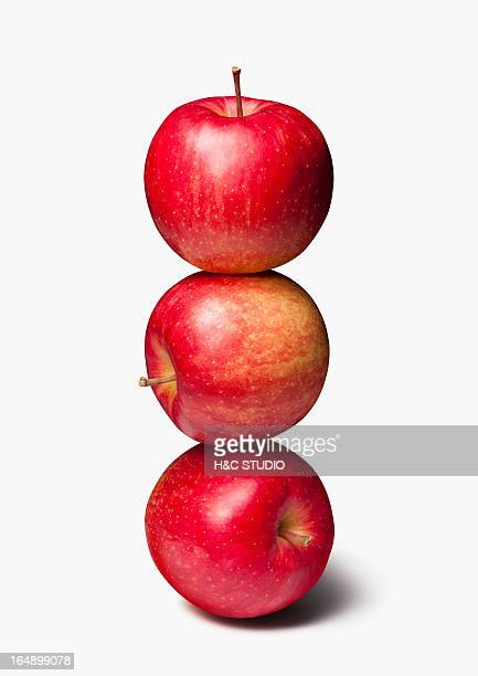 Stack of Three, Red Apples