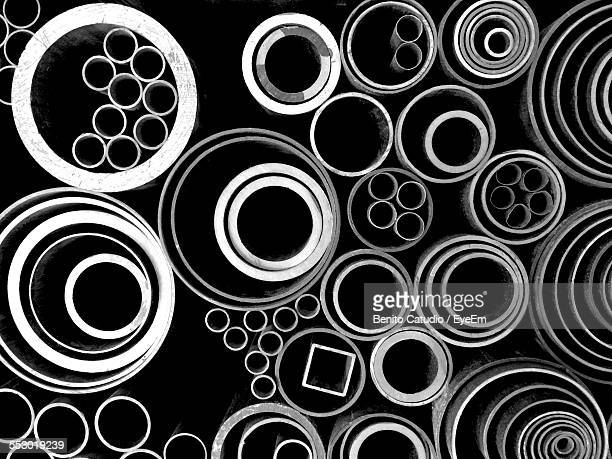 Stack Of Various Steel Pipes