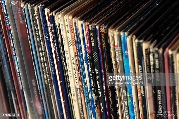 Stack of vinyl records. Las Vegas, NV