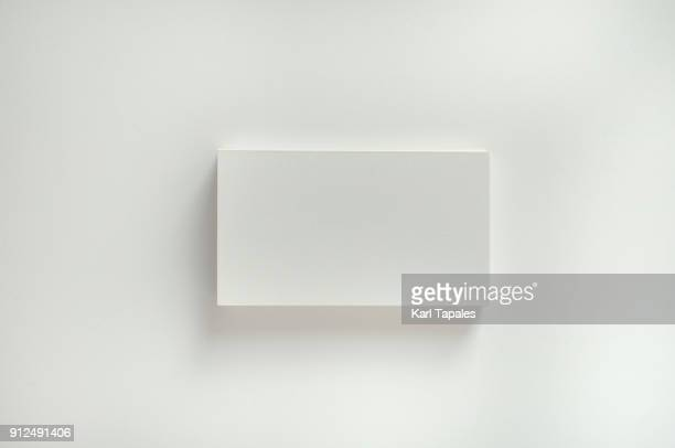 a stack of white blank calling cards - identity stock photos and pictures