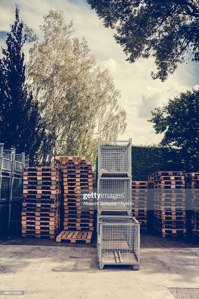 Stack Of Wooden Pallets : Stock-Foto