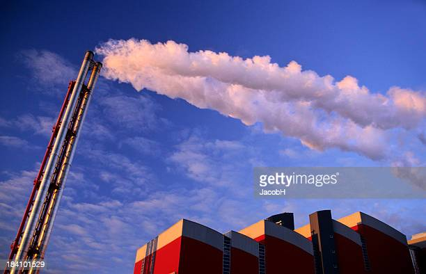 stack with white smoke - incinerator stock photos and pictures