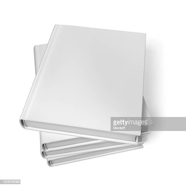 スタックドブランクのブック白背景