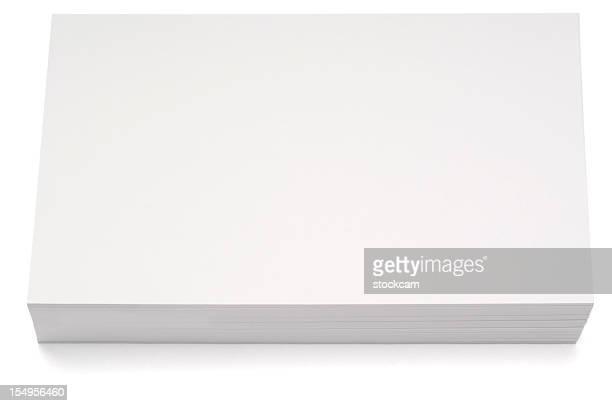 空白の索引カードスタック