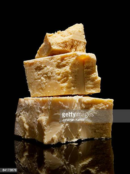 Stacked Chunks of Parmasean Cheese