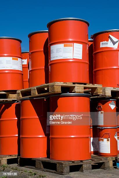 stacked containers - oil barrel stock pictures, royalty-free photos & images