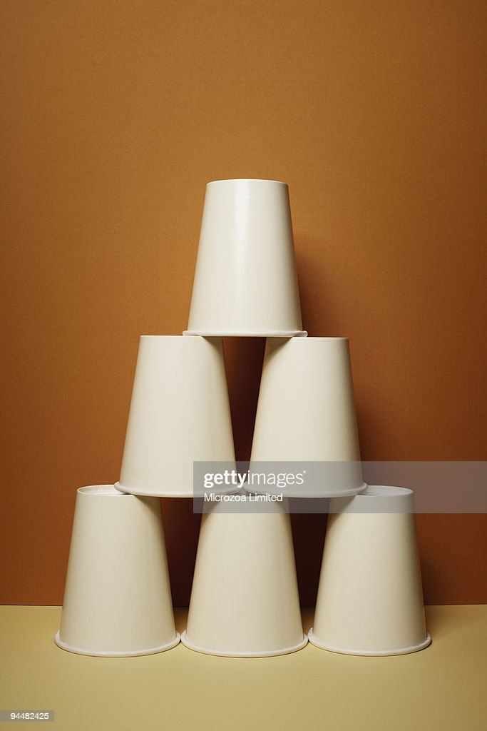 Stacked cups : Stock Photo