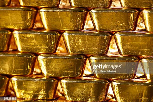 stacked gold ingots