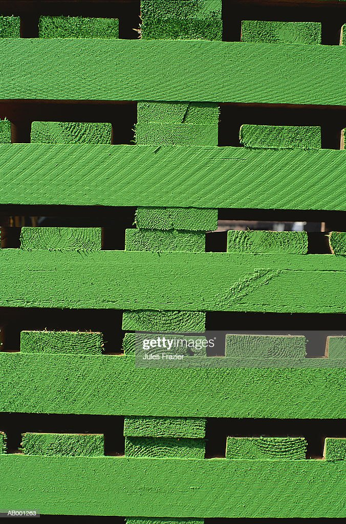 Stacked Lumber Pallets Stock Photo - Getty Images