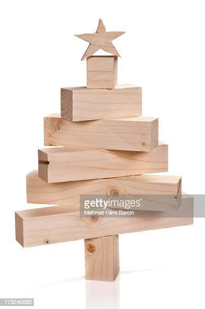 Bottier lumbers dans la forme d'un arbre de Noël
