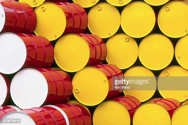 Stacked Oil Drums