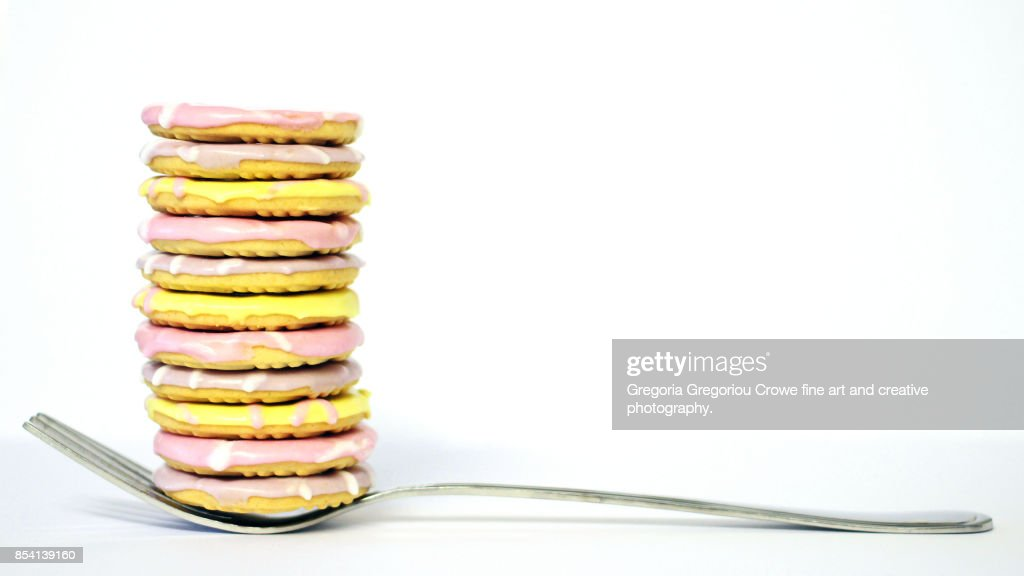 Stacked Party Ring Cookies : Stock Photo