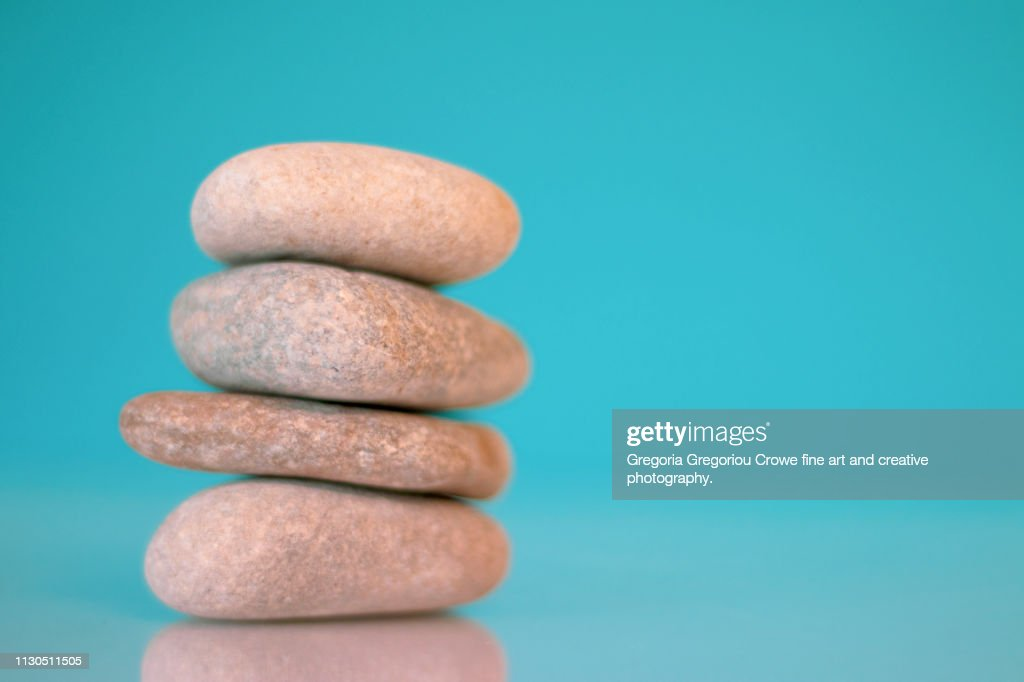 Stacked River Rocks : Stock Photo