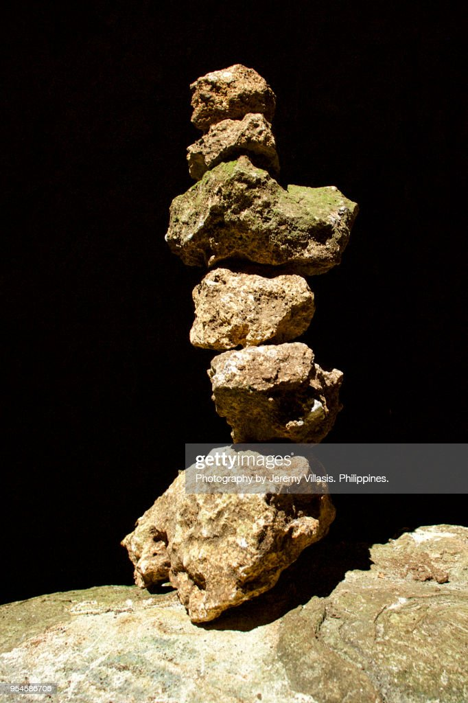 Stacked Rocks in Callao Cave, Cagayan : Stock Photo