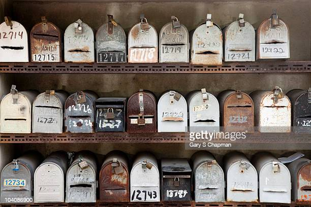 Stacked rural mailboxes