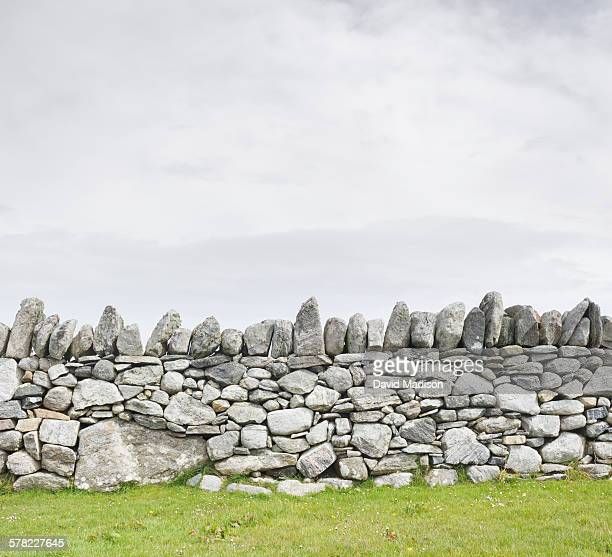 Stacked stone wall, Arnol, Isle of Lewis.