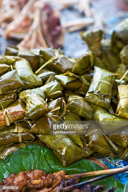stacked tamales - iquitos stock pictures, royalty-free photos & images