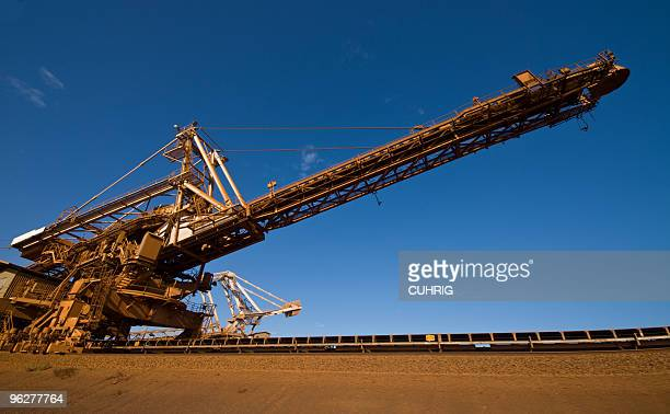Stacker on Iron Ore Mine Site