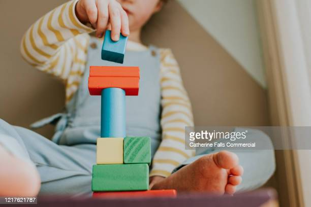 stacking - preschool child stock pictures, royalty-free photos & images
