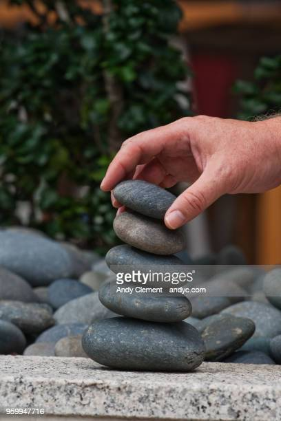 stacking rocks - andy clement stock pictures, royalty-free photos & images