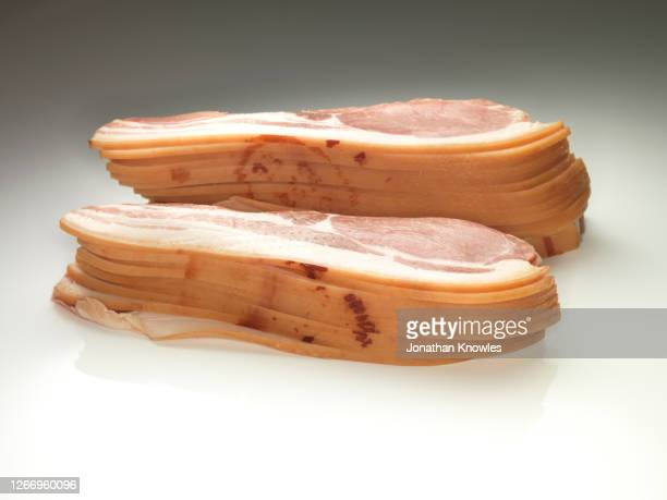 stacks of bacon - freshness stock pictures, royalty-free photos & images