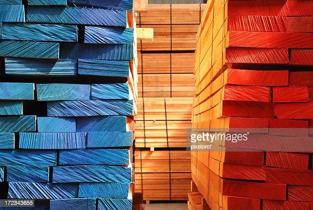 Stacks of boards