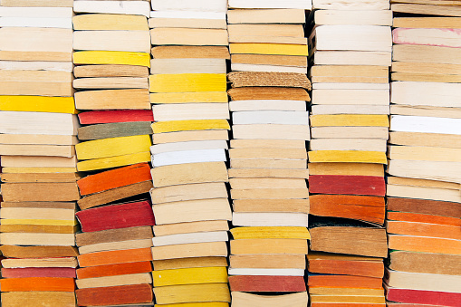 Stacks of books on the shelf - gettyimageskorea