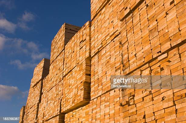 Stacks of Building Lumber