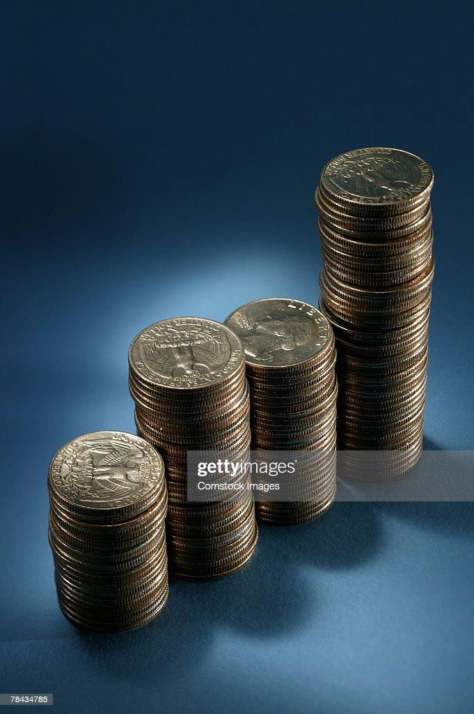 Stacks of coins : Stockfoto