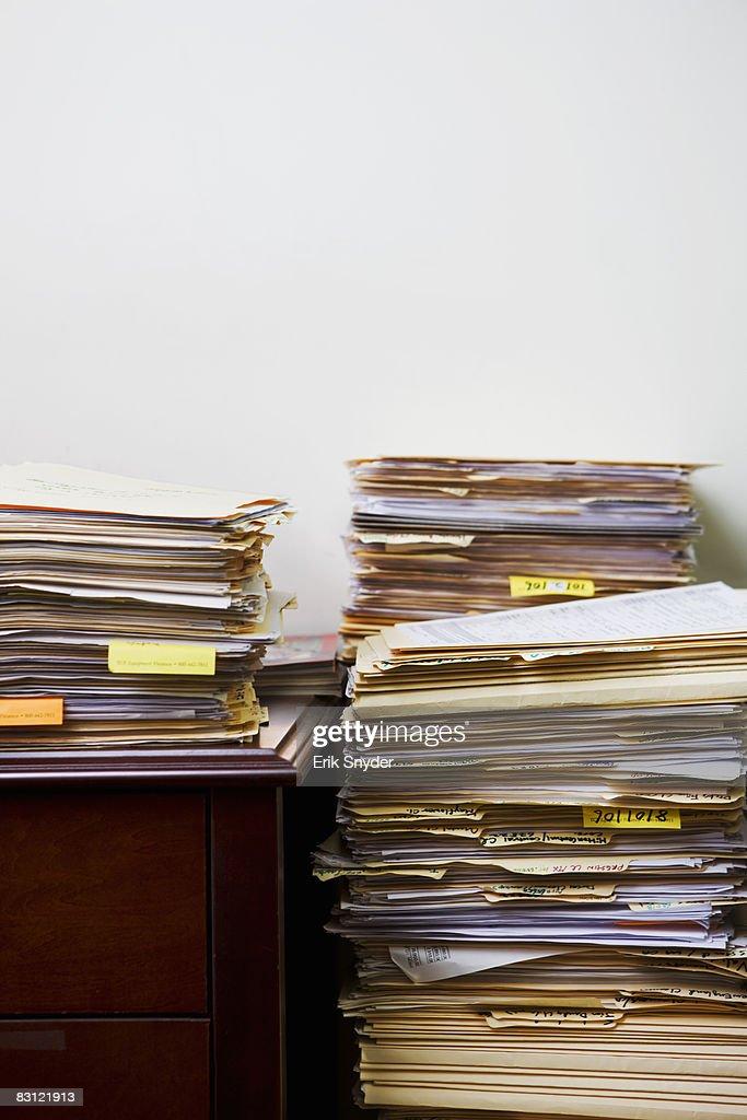 stacks of files : Stock Photo