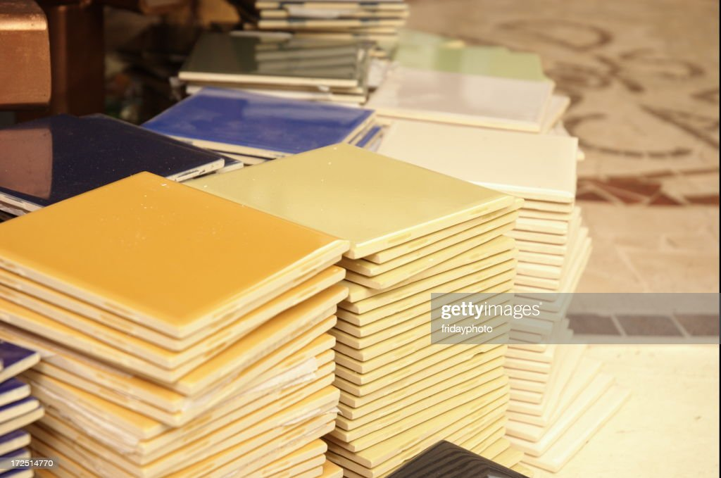 Stacks of Floor Tiles : Stock Photo