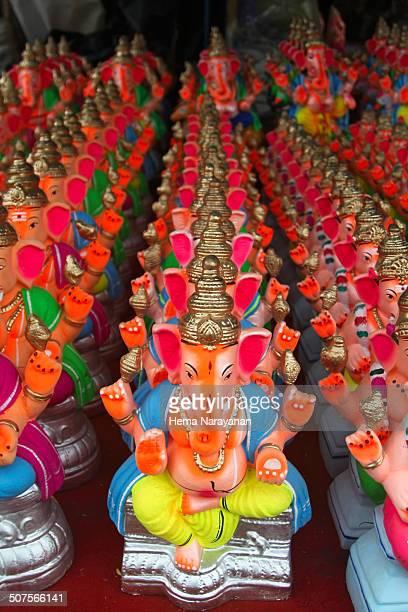 stacks of ganesha idola - hema narayanan stock pictures, royalty-free photos & images